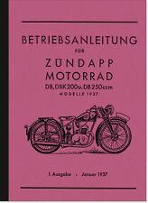 ZÜNDAPP DB DBK 200 250 manuale istruzioni manuale manual
