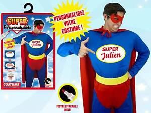 Déguisement Super-Héros Personnalisable Taille Unique