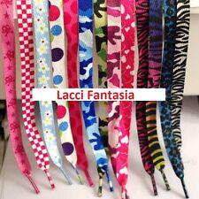 Lacci  Scarpe Colorati Fantasia Piatti, shoelaces flat cm 115 * 1,2