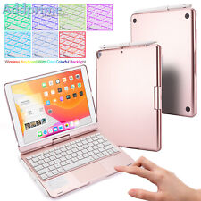 Touchpad Protective Keyboard Case for iPad 2020/2019(7/8th Gen) 360° Rotation