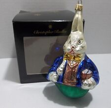 Christopher Radko BUNNY RABBIT Christmas Ornament EASTER