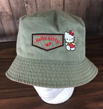 Hello Kitty Gray Girls Youth Bucket Shade Hat Cap Beach Collectible Small