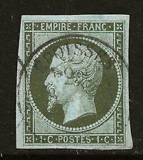 More details for france  (z-827) 1853 ceres sg42a 1c /olive/grn/grn good 4 margin examples used