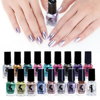 6ml Metallisch Nagellack Magie Spiegel Bewirken Nagel Chrom Polish Varnish Dekor