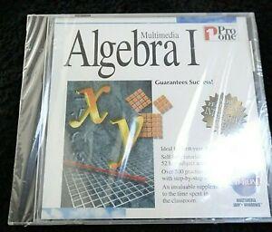 ALGEBRA 1 Multimedia PC CD 1995 Vintage CD ROM Pro One Software New Sealed