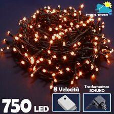 Catena Luminosa 750 Luci LED Lucciole Bianco Caldo Controller 8 Funzioni Esterno