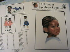 CHILDREN OF SOUTHERN ROOTS III~4 patterns~2000 *RARE & OOP~cross stitch graphs