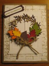 Fall Card Kit: Window Wreath Leaf Thanksgiving Stampin Up Handmade cards set 4