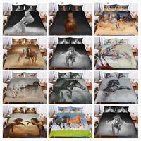 3D Animal Horse Runing Duvet Cover Bedding Set Quilt/Comforter Cover Pillowcase