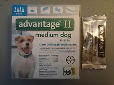 5 MONTHS BAYER ADVANTAGE II FLEA CONTROL FOR DOGS 11 - 20 LBS - NEW