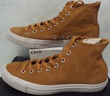 New Mens 10 Converse CTAS Hi Raw Sugar Brown Leather Shoes $70 157522C