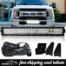 """For 2017+ Ford F250 F350 Super Duty Front Bumper 120W 22"""" LED Light Bar w/Wiring"""