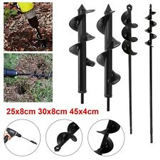 More details for planting auger spiral hole drill bit garden yard earth bulb planter hole digger