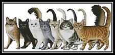 7 Cats - Cross Stitch Chart/Pattern/Design/XStitch