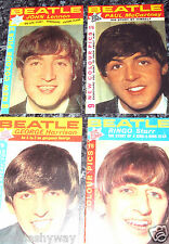4 BEATLES Booklets Rock & Roll Pop C Music Man John Lennon U Books Retro 60s UK