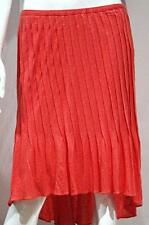 TRACY REESE New York CORAL Sift Flame MULLET Asymmetric PLEATED Lined SKIRT $265