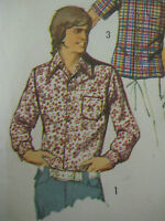 Vintage Simplicity 5047 KEITH PARTRIDGE SHIRT Sewing Pattern Men Size 34