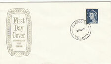 Stamp 1967 QE2 rate increase 5c blue on Emblem grey hollow FDC unaddressed