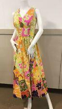 Tori Richards Vintage Maxi Long 1970s Hippe Psychedelic Dress Sz 8 Sm/med FC8