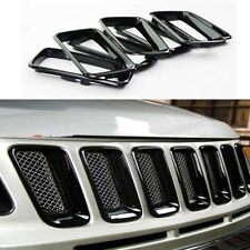 fit Jeep Compass 2011-2016 Front Grille Vent Hole Grill Inserts Trim Frame-Black