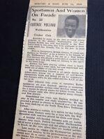 m1-5 ephemera 1949 Picture Article  Walthamstow Cricket Club Eustace Pollard