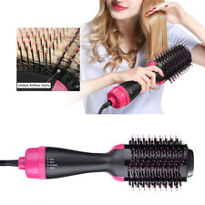 UK Professional Brush Irons One-Step Hair Dryer Hot Air Comb Styling Curling Top