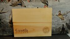 GROTH 2013 RESERVE CABERNET SAUVIGNON WOOD WINE PANEL