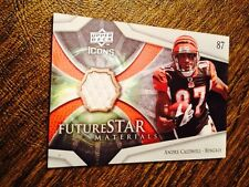 2008 UD ICONS FUTURE STAR MATERIALS PATCH RC ANDRE CALDWELL ROOKIE JERSEY RELIC!