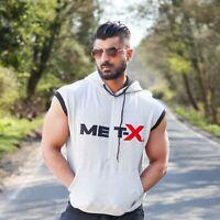 Mens Sleeveless Pullover Hoodies Top Gym Wear Fashion Gym Wear Tank Top Vest
