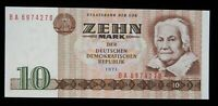 1971 East Germany 10 Mark World Foreign Currency Uncirculated Banknote #270