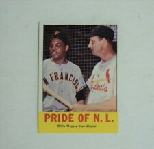 1963 Topps 138 Willie Mays Stan Musial Pride of NL NRMINT - 1 day FLASH SALE