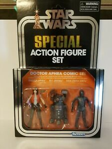Star Wars Vintage Collection SDCC Dr. Aphra Comic Set MIB/MOC