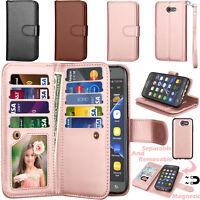 For Samsung Galaxy J3 Luna Pro J327 Emerge Eclipse Wallet Leather ID Card Holder