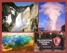 YELLOWSTONE NATIONAL PARK Collage - Travel Souvenir Flexible Fridge Magnet