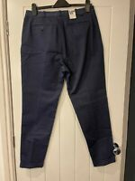 BNWT LEE 101 CHINO RELAXED TAPERED FIT TROUSER W31 L32 DARK BLUE RRP £105