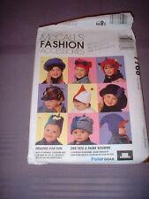 MCCALLS 7768 ~ CHILDREN WINTER HATS ( 10 VARIATIONS) ~ 3 SIZES ~ NEW