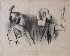 Honore Daumier France 1808 -1879 Lithograph Physionomies Tragico-Classiques No 6