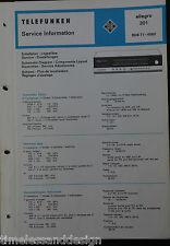 Telefunken Service Information allegro 301 Service Manual