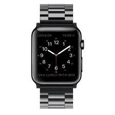 Simpeak Cinturino Sostituzione per Apple Watch 38/42mm in acciaio inossidabile Nero 38mm