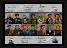 More details for framed a4 doctor who 1963 - 2020 signed - all 14 doctors -  a4 photo print