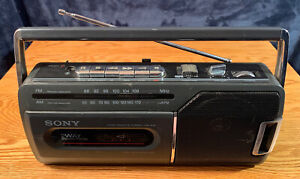 Vintage Sony Portable AM/FM Radio Cassette-Corder Tape Player Boombox CFM-140II