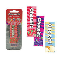 Chewits Sweets 3 Pack Hanging 2D Car Home Air Freshener Freshner Scents