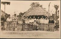 Real Photo RPPC Florida Seminole Indians Chestnut Billy's Camp Doubleday Photo