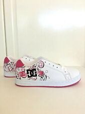dd83932bb4a6 DC Girls Youth Pixie 3 Shoes Sneakers Skate Crazy Pink White Sz 6 Y 301777B