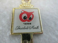 Vintage 1969 Red Owl Grocery Food stores Presidents Month Key