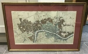 1776 Antique Map; Plan of London, Westminster & Southwark to 1777