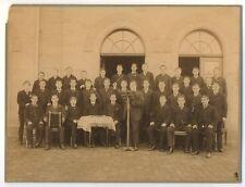 c153 großes Foto Student Studenten Dirigent Schifferklavier Akkordeon ~1910