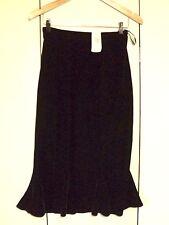 Laura Ashley Stretch Velvet Skirt Brown