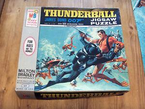 Vintage Milton Bradley James Bond 007 Thunderball 1965 Jigsaw Puzzle #4691-2