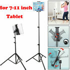 Adjustable Tablet Tripod Stand Mount Clamp Holder Bracket For 7-11 inch iPad Tab